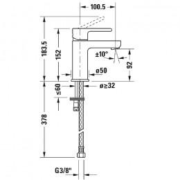Duravit B.2 B21010002010, Смеситель для раковины, цвет хром