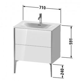 Duravit XVIU XV43010B122, Тумба напольная, 71 см, цвет белый/шампань