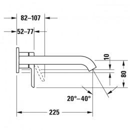 Duravit C.1 C11070004046 Однорычажный смеситель для раковины для скрытого монтажа черный