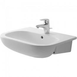 Duravit D-Code 0339550030, Раковина с переливом, цвет белый