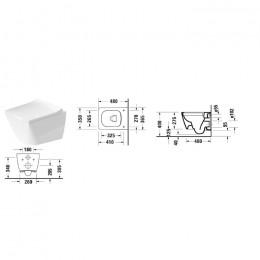 Duravit VIU 2573090000, Унитаз подвесной, цвет белый