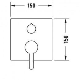 Duravit C.1 C14210011046 Однорычажный смеситель для душа для скрытого монтажа черный