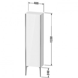 Duravit XVIU XV1315RB122, Шкаф напольный, 133 см, цвет белый/шампань
