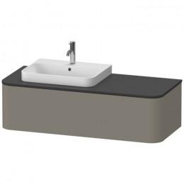 Duravit Happy D.2 Plus HP4932L9292, Тумба подвесная, 130 см, цвет серый камень