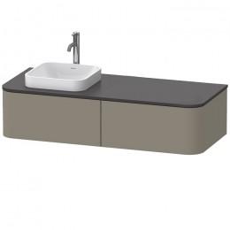 Duravit Happy D.2 Plus HP4954L9292, Тумба подвесная, 160 см, цвет серый камень