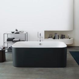Duravit Happy D.2 Plus 700453800000000 Ванна акриловая 180 см отдельностоящая, бесшовная панель graphite supermatt