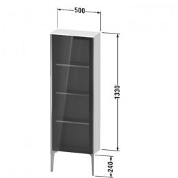 Duravit XVIU XV1366LB122, Шкаф напольный, 133 см, цвет белый/шампань