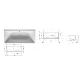 Duravit DuraSquare 700428000000000 Ванна угловая 180 см белый