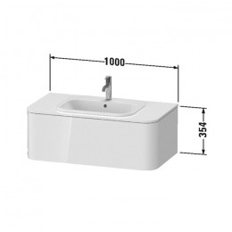 Duravit Happy D.2 Plus HP495102222, Тумба подвесная, 100 см, цвет белый
