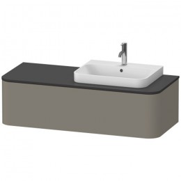 Duravit Happy D.2 Plus HP4942R9292, Тумба подвесная, 130 см, цвет серый камень