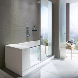Duravit Shower + Bath 700403000100000, Ванна левосторонняя, цвет белый