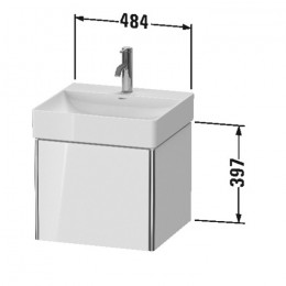 Duravit XSquare XS405902222, Тумба подвесная, 48 см, цвет белый