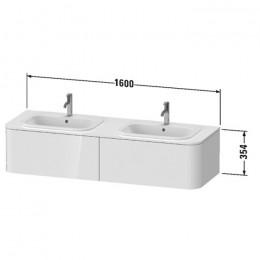 Duravit Happy D.2 Plus HP4956B9292, Тумба подвесная, 160 см, цвет серый камень