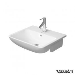 Duravit ME by Starck 0378550000, Раковина с переливом, цвет белый