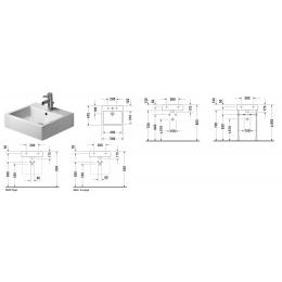 Duravit Vero 0454500079 Раковина без перелива 50 см белый