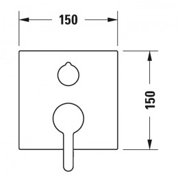 Duravit C.1 C15210011010 Однорычажный смеситель для ванны для скрытого монтажа хром