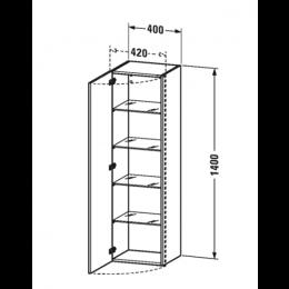 Duravit DuraStyle DS1219L7979 Высокий шкаф 40 см Орех натуральный