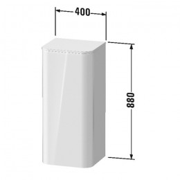Duravit Happy D.2 Plus HP1260L2222, Пенал подвесной, 88 см, цвет белый