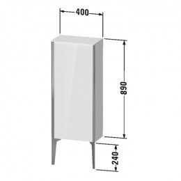 Duravit XVIU XV1305RB221, Шкаф напольный, 89 см, цвет орех/черный