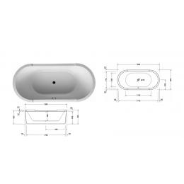 Duravit Starck 1 790295000001000, Слив-перелив для ванны, цвет хром