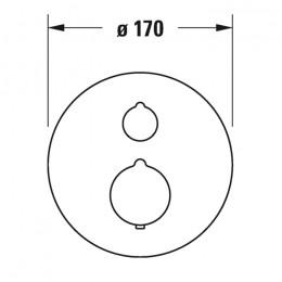 Duravit C.1 C14200016010 Термостат для душа для скрытого монтажа хром