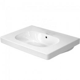 Duravit D-Code 03426500602, Раковина с переливом, цвет белый