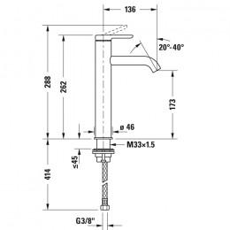 Duravit C.1 C11030002046 Однорычажный смеситель для раковины L черный