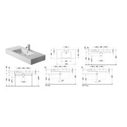 Duravit Vero 0329100060 Раковина 105 см белый