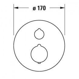 Duravit C.1 C14200014010 Термостат для душа для скрытого монтажа хром