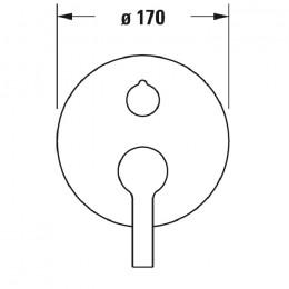 Duravit B.2 B25210012010, Смеситель для ванны, цвет хром