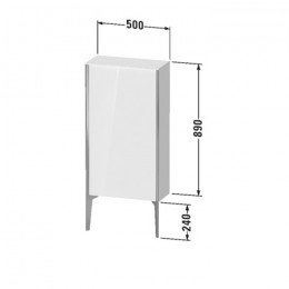 Duravit XVIU XV1306RB221, Шкаф напольный, 89 см, цвет орех/черный