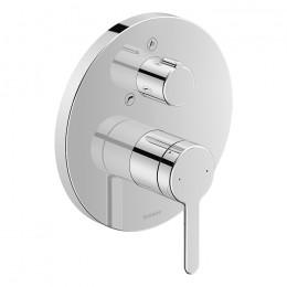 Duravit C.1 C15210018010 Однорычажный смеситель для ванны для скрытого монтажа хром