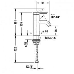 Duravit C.1 C11010002010 Смеситель для раковины S хром