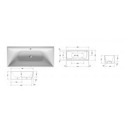 Duravit DuraSquare 700427000000000 Ванна угловая 180 см белый