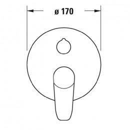Duravit B.1 B15210018010, Смеситель для ванны, цвет хром