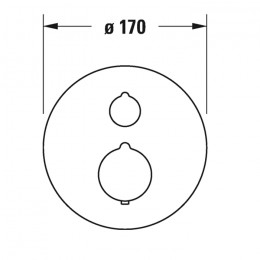 Duravit C.1 C14200014046 Термостат для душа для скрытого монтажа черный