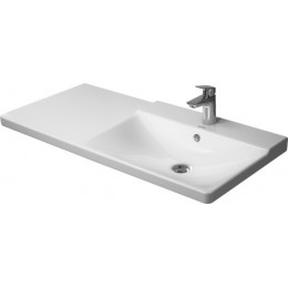 Duravit P3 Comforts 2334120000, Раковина с переливом, цвет белый