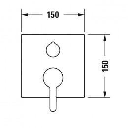 Duravit C.1 C15210011046 Однорычажный смеситель для ванны для скрытого монтажа черный