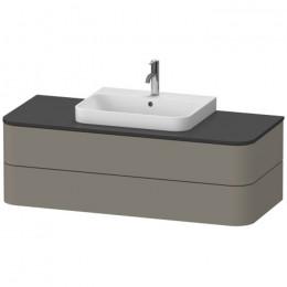 Duravit Happy D.2 Plus HP496209292, Тумба подвесная, 130 см, цвет серый камень