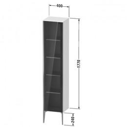 Duravit XVIU XV1375LB221, Шкаф напольный, 177 см, цвет орех/черный