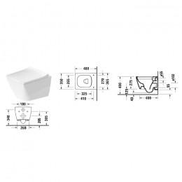 Duravit VIU 2573092000, Унитаз подвесной, цвет белый HygieneGlaze