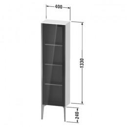 Duravit XVIU XV1365LB221, Шкаф напольный, 133 см, цвет орех/черный