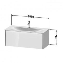 Duravit XVIU XV40350B122, Тумба подвесная, 101 см, цвет белый/шампань