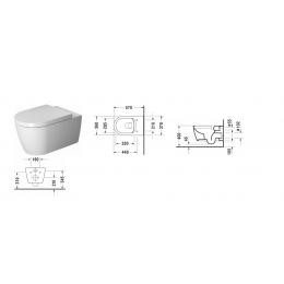 Duravit ME by Starck 45290900A1 (252909+002009), Комплект: унитаз+сиденье, цвет белый