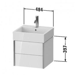 Duravit XVIU XV43330B122, Тумба подвесная, 48 см, цвет белый/шампань